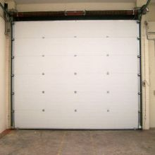 white insulated sectional door