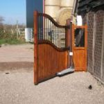 timber gates, side hinged