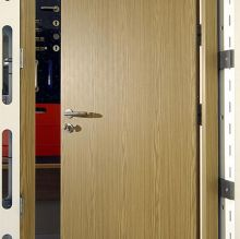 timber effect steel door