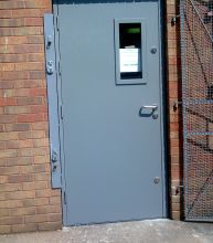 glazed steel doors & Steel Security Doors | B and L Shutters | UKSteel Security Doors ...