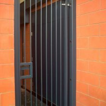 Hinged window security grilles and door