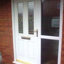 A steel reinforced door