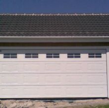 sectional garage door white