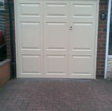 side door opening garage door