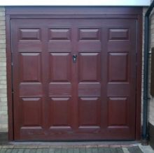 brown panelled door