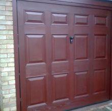 panelled garage door
