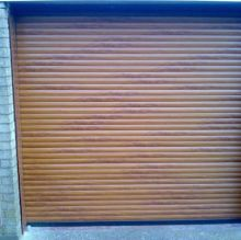 brown aluminium garage roller door