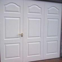 garage white paneled side opening door