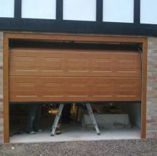 wooden sectional garage roller door