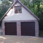 class garage finish with convenient door