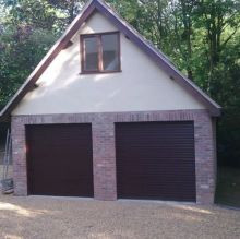 class garage finish with convenient door