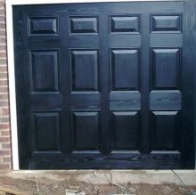 black garage doors insulated
