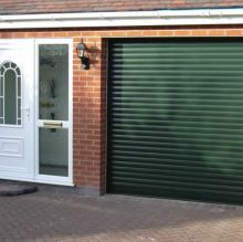green garage roller door
