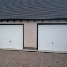 simple white up and over doors