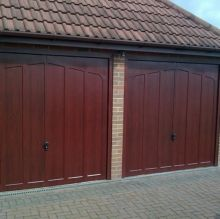luxurious timber twin garages