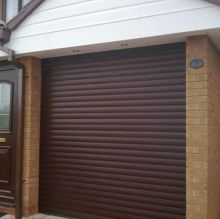 brown garage roller shutter