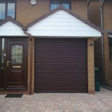 perfectly matched to the property brown roller door
