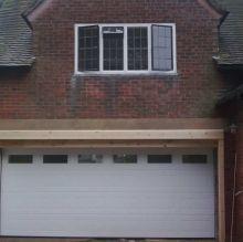 double width sectional garage door