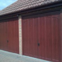 large timber up and over garage