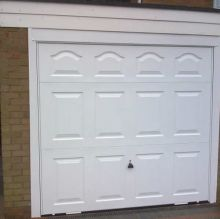 classic panelled garage doors
