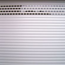 insulated roller shutters with punched and glazed infills