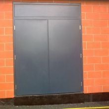 powder coated steel double doors