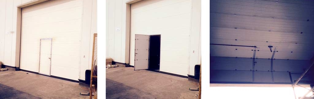 insulated sectional roller door with wicket gate entry