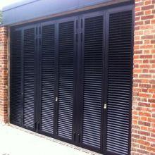 Slimline louvred steel doors