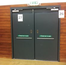 Sports hall doors and gymnasium doors