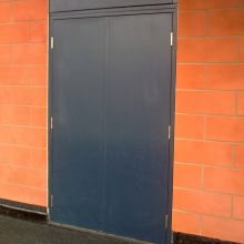 double fire doors steel