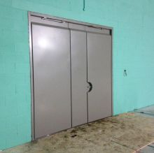 Triple Leaf Rebound Panel Sportshall Door