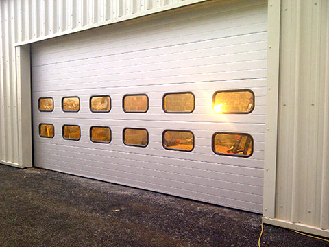 up and over insulated sectional garage door
