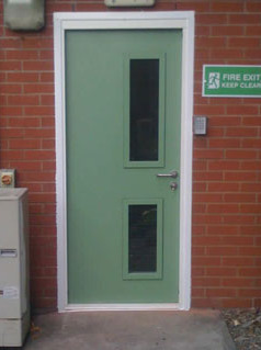 powder coated steel security door