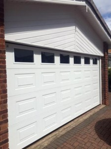 aluminium sectional garage door
