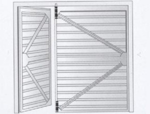 Side Hinged Garage Door Diagram