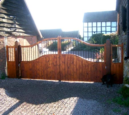 Beautiful timber gates for luxury homes or traditional commercial premises
