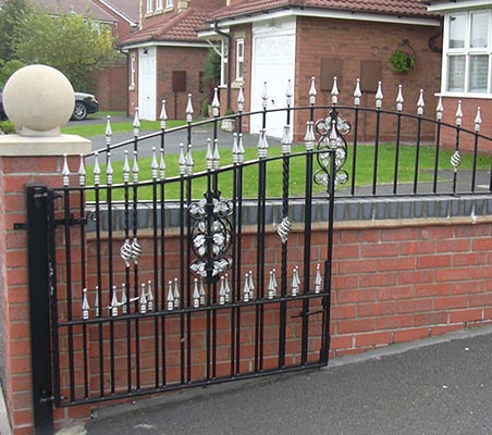 Decorative wrought iron gates for homes or business premises