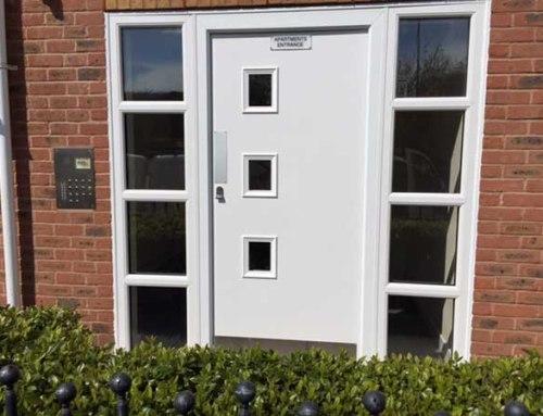 Secure Steel Communal Entry Doors