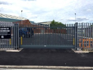 electrical cantilevered gate