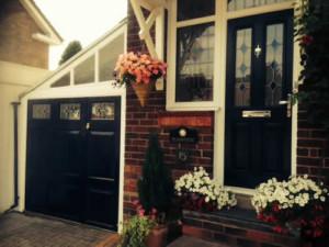 bespoke glazed side hinged matching front door