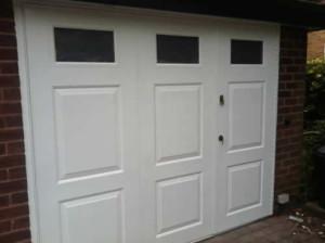 glazed white side hinged door