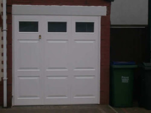 side hinged doors with glazing