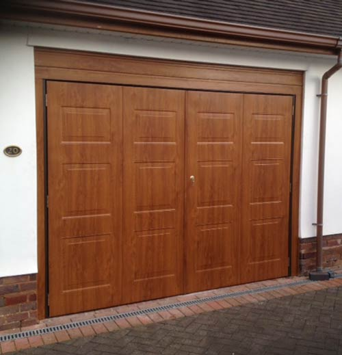 Modern Garage Doors In An Astonishing Protection: Side Hinged Garage Doors Installation And Supply For Self