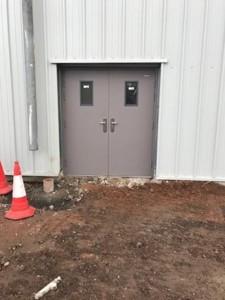 glazed double steel-doors exterior