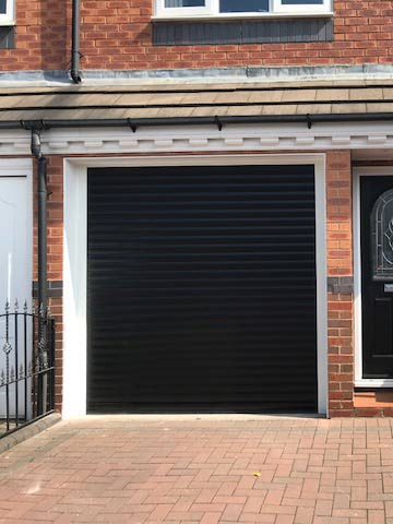 insulated roller shutter black
