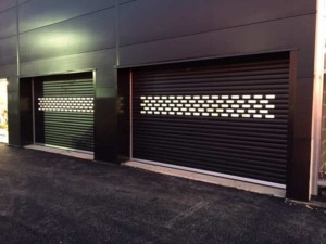glazed insulated industrial roller shutters