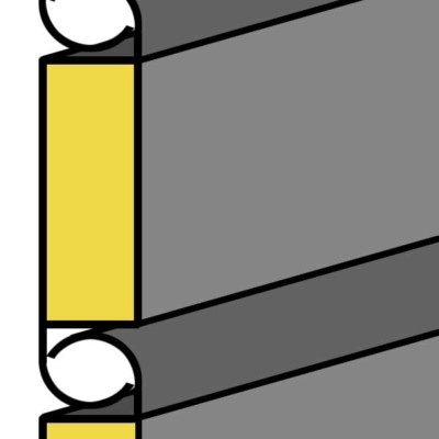 twin-skin roller shutter cross-section
