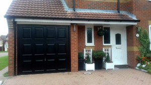 Black Garador Georgian Style Garage Door
