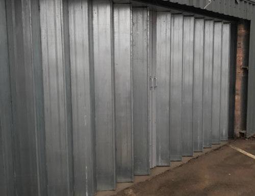 Steel Sliding Folding Doors Installed