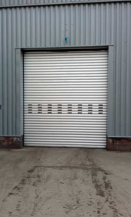 Industrial Direct Drive Roller Shutters BL95 front view